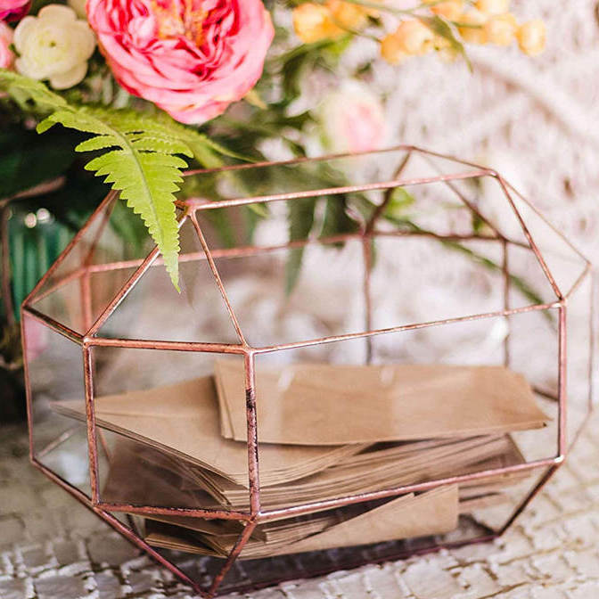 Geometric Wedding Card Box